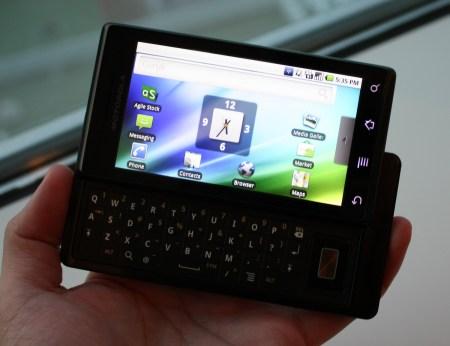 Motorola Milestone Hong Kong Version slide-out on hand