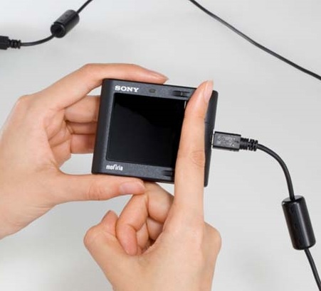 Sony FVA-U1 USB Finger Vein Authentication Device in use