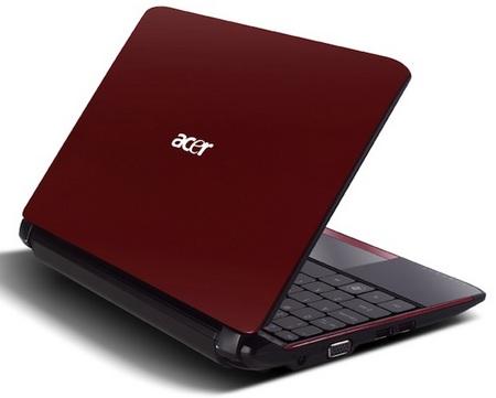Acer Aspire One AO532h Pine Trail Netbook Garnet Red