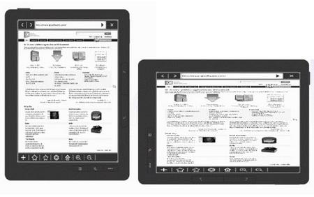 Asus DR-950 e-book reader browser