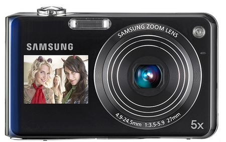Samsung DualView TL210 and TL205 Dual LCD Cameras front