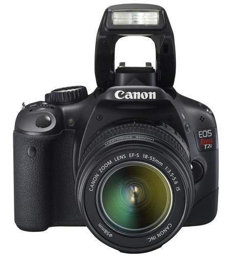 Canon EOS 550D DSLR Camera flash