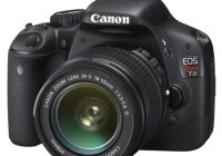 Canon EOS 550D DSLR Camera front angle