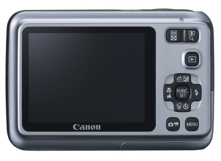 Canon PowerShot A490 entry-level digicam back