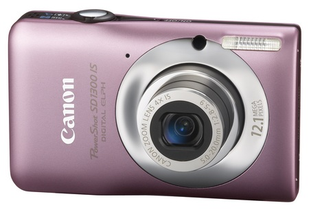 Canon PowerShot SD1300 IS Digital Camera pink