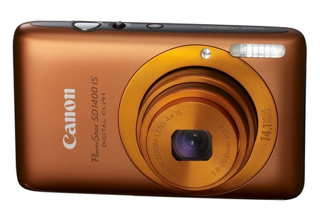 Canon PowerShot SD1400 IS digital camera orange