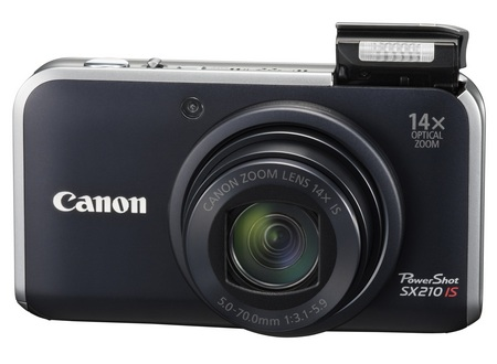 Canon PowerShot SX210 IS Digital Camera with 14x Zoom black