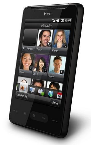 HTC HD mini Windows Phone angle