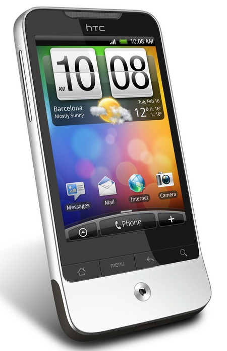 HTC Legend Android 2.1 Phone with HTC Sense angle left