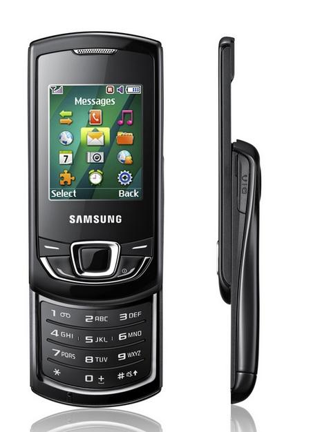 Samsung Monte Slider E2550 slider phone front side
