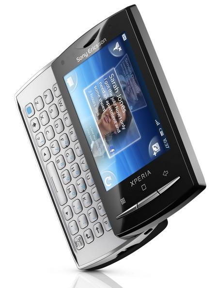 Sony Ericsson Xperia X10 mini pro android phone angle