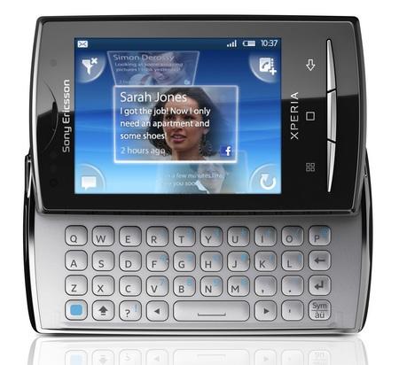Sony Ericsson Xperia X10 mini pro android phone front