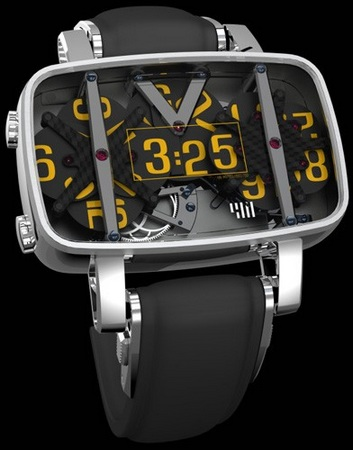 4N MVT01 mechanical Watch Shows you Digital Time