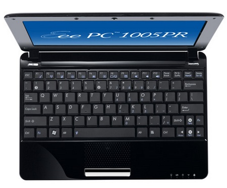 Asus Eee PC 1005PR Seashell Netbook with Broadcom Crystal HD Media Processor top