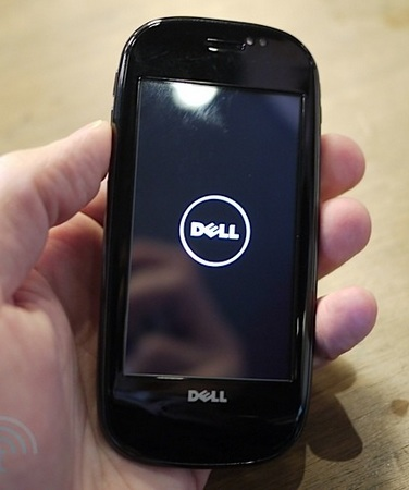 Dell Aero Android Phone start