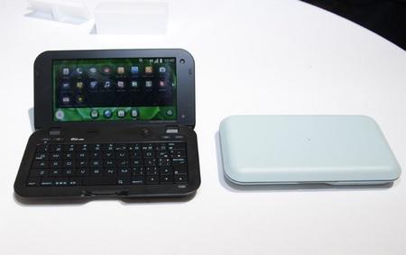 KDDI au Sharp IS01 SnapDragon-powered Android MID light blue