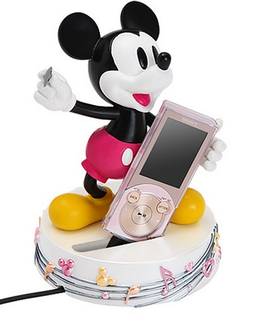 Sony Walkman NW-S740 and NW-S640 Mickey Mouse stand