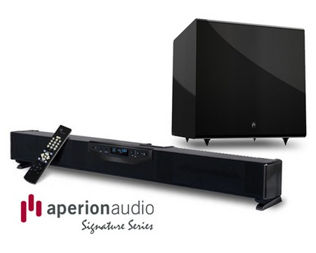 Aperion Signature SLIMstage30 Soundbar Speaker subwoofer bundle