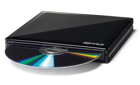 Buffalo DVSM-PS58U2-S-BK Lightweight Portable DVD Burner