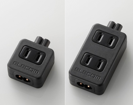 Elecom T-ACTAP21 and T-ACTAP22 Power Strip for Notebook Adapter