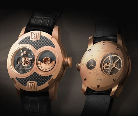 Gresso Grand Wind Skeleton Watch Rose Gold