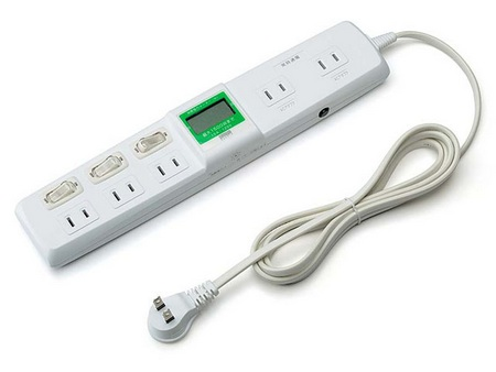 Sanwa 700-TP1052DW Power Strip with display