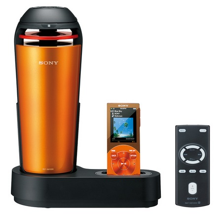 Sony RDP-NWV500 Walkman Speaker Dock orange