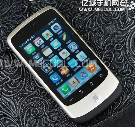 TEGW3000 Shanzhai Phone with Nexus One Style and iPhone UI