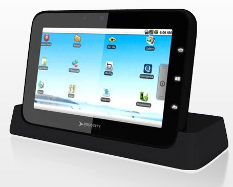 Velocity Micro Cruz Tablet runs Android 2.1 with Flash Support