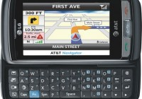 AT&T LG Vu Plus QWERTY Phone Supports AT&T Mobile TV navigation