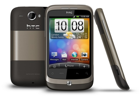 HTC Wildfire Android Phone brown