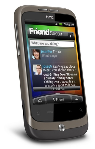 HTC Wildfire Android Phone front