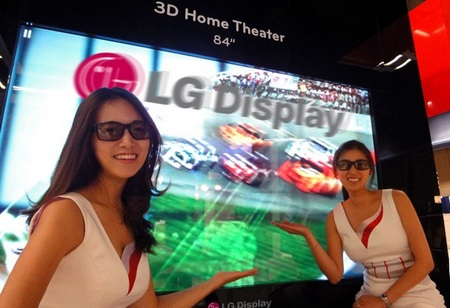 LG shows 84-inch 3DTV with 3840x2160 Resolution