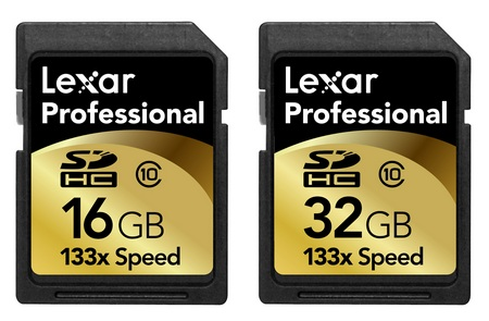 Lexar Professional 133x SDHC in 16GB and 32GB Capacities