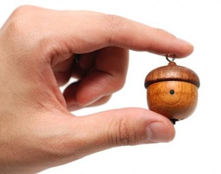 Motz Acorn Tiny Wooden Speaker on hand
