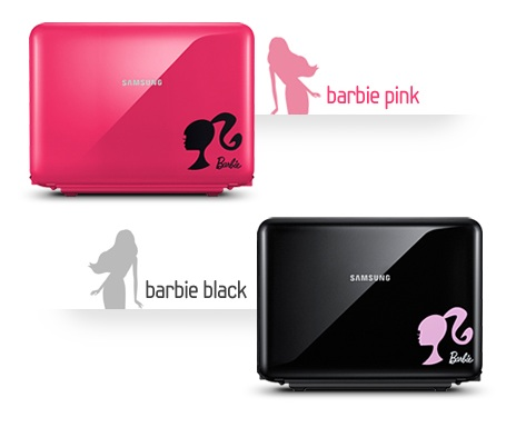 Samsung X170 Barbie Special Edition Notebook colors