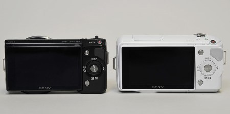 Sony NEX-3 Vs Sony NEX-5 back