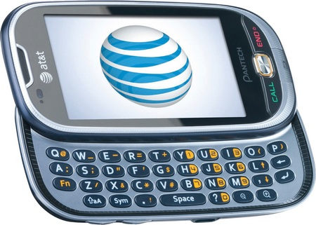 AT&T Pantech Ease QWERTY Messaging Phone keyboard