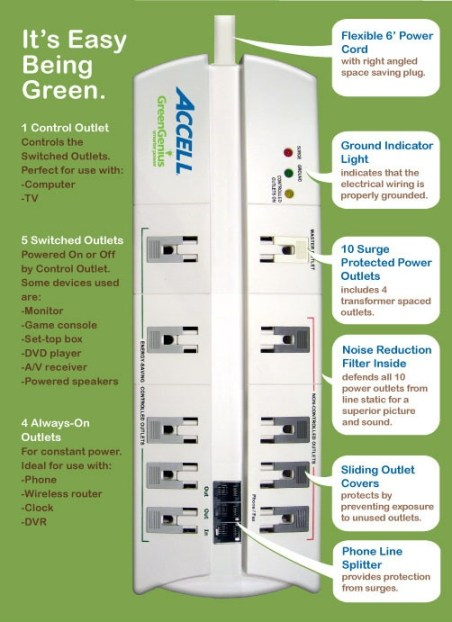 Accell GreenGenius Smart Surge Protectors 1