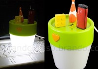 Flower Pot USB Hub with Light