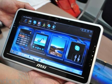 MSI WindPad 100 Atom-powered Tablet runs Windows 7