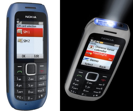 Nokia C1-00 Entry-Level Mobile Phone with flashlight