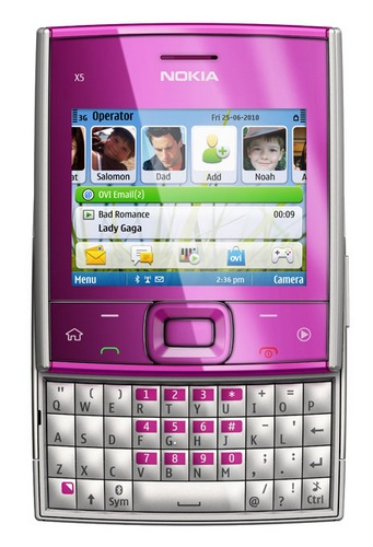Nokia X5-01 Square QWERTY Phone pink