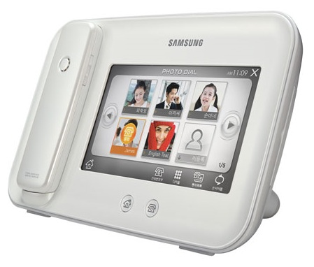 Samsung SP-M100 combines Cordless Phone and Digital Frame white