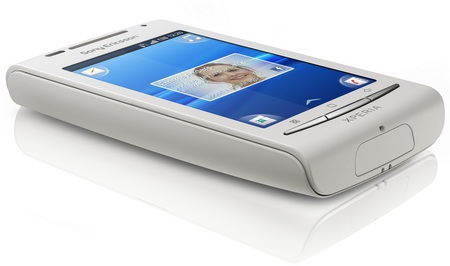 Sony Ericsson Xperia X8 Android Smartphone angle