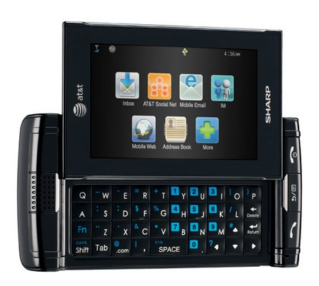 AT&T Sharp FX Messaging Phone with Mobile TV keyboard