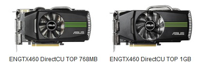 Asus ENGTX460 Series GeForce GTX460 Graphics cards