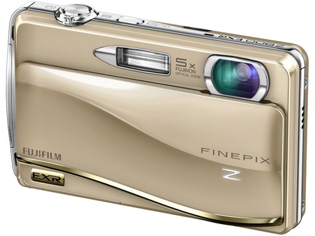 FujiFilm FinePix Z800EXR Touchscreen Camera gold
