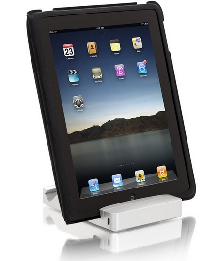 HyperMac Stand iPad Battery Stand Combo with case