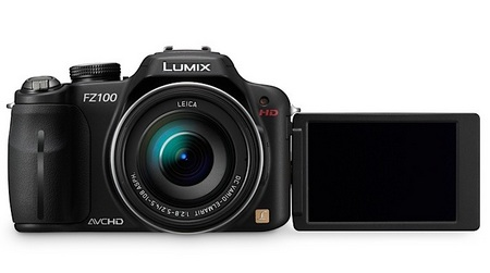 Panasonic LUMIX DMC-FZ100 Camera with 24x Zoom and Full HD Video Recording swivel lcd